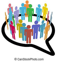 La gente de las redes sociales habla burbujas