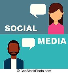 La gente de los medios sociales habla burbujas