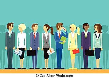 La gente de negocios agrupa recursos humanos vector plano