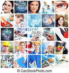 La gente de negocios collage.