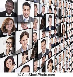 La gente de negocios collage