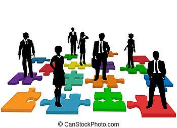 La gente de negocios confunde el equipo de recursos humanos