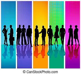 La gente de negocios de color