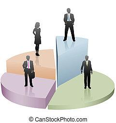 La gente de negocios está en la lista de éxitos