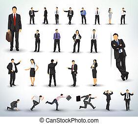 La gente de negocios ilustra