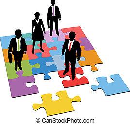 La gente de negocios resuelve los recursos