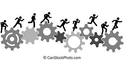 La gente de Symbol tiene una carrera en equipo industrial