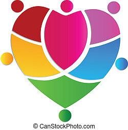 La gente del corazón tiene un logo creativo