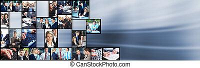 La gente del equipo de negocios collage.