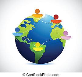 La gente del Globe se comunica