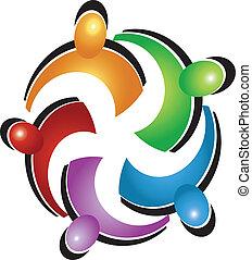 La gente del sindicato logo vector
