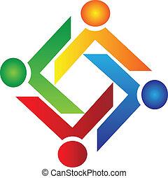 La gente del trabajo de caridad logo vector