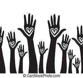 La gente es como un corazón unido.