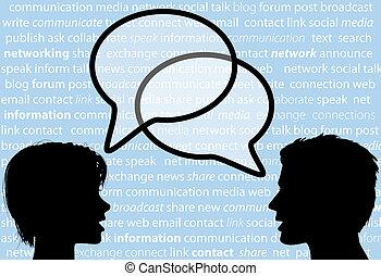 La gente habla de burbujitas sociales