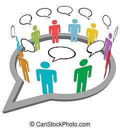 La gente habla de reunirse dentro del discurso de los medios sociales