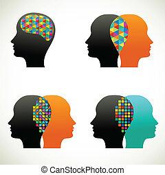 La gente habla, piensa, se comunica