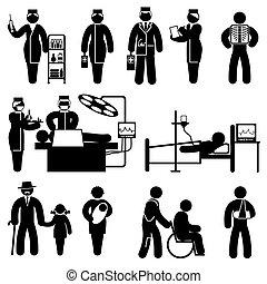 La gente medica iconos