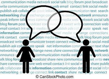 La gente simbólica comparte burbujas de la red social