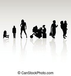 La gente vector silueta ilustración