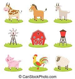 La granja asociaba animales y objetos