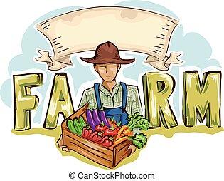 La granja de hombres produce estandartes