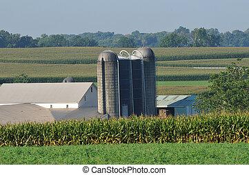La granja Pennsylvania con silo