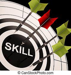La habilidad en el tablero de dardos muestra habilidades
