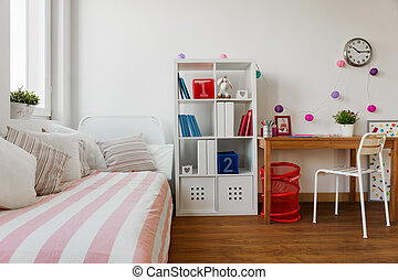 La habitación de los niños en colores pastel
