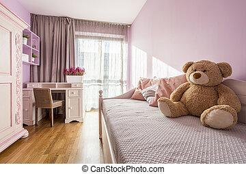 La habitación rosa de la chica