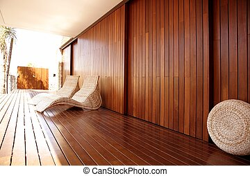 La hamaca del spa Golden Wood al aire libre