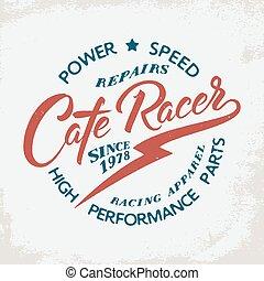 La huella de la camiseta de un corredor de café.