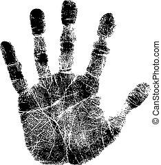 La huella de la mano