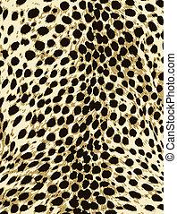 La huella de la piel de animal leopardo
