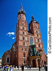 La iglesia de Mariacki en Krakow