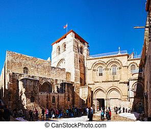 La iglesia del santo sepulcro en Jerusalén