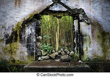 La iglesia destruida en Hawaii