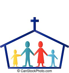 La iglesia y el logo de la familia