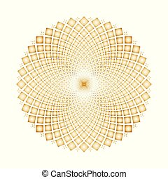 La ilusión óptica del vector gira ciclos de fondo
