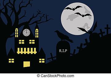 La ilustración de Halloween
