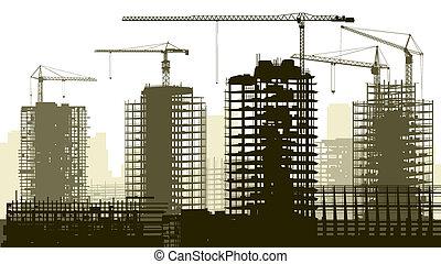 La ilustración de la construcción.