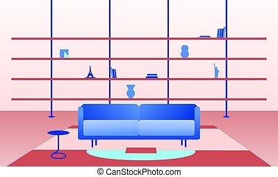 La ilustración de la sala