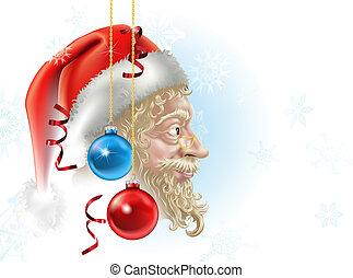 La ilustración de Navidad de Santa