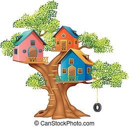 La ilustración de una casa colorida