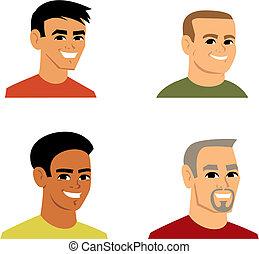 La ilustración del avatar de Cartoon