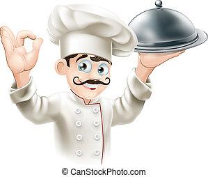 La ilustración del chef de Gourmet
