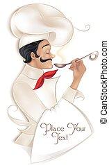 La ilustración del chef