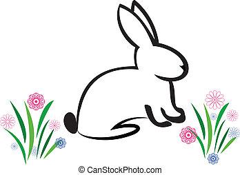 La ilustración del conejito de Pascua