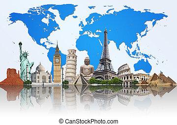 La ilustración del famoso monumento del mundo