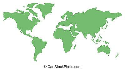 La ilustración del mapa mundial