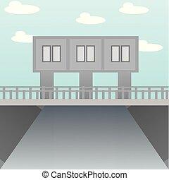 La ilustración del puente